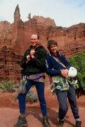 Rock Climbing Photo: Bob Markewich and Alan Ream.  Fisher Towers.  1997...