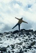Rock Climbing Photo: Alan Ream Summit Mt. Snowdon.  1999?