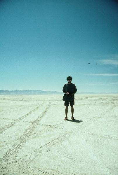 Rock Climbing Photo: Dry salt lake bed on drive to Yosemite from Colora...