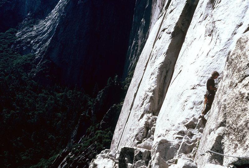 Rock Climbing Photo: Triple Direct- Yosemite, with Dan Brennan.  1997?