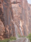 Rock Climbing Photo: Several water falls all at once.