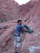 Rock Climbing Photo: action shot coilin rope