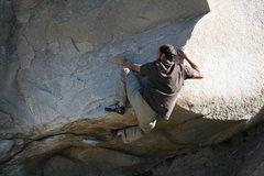 Rock Climbing Photo: Nathen working the Beach Problem #3