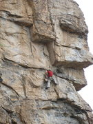 Rock Climbing Photo: EFR heading up to the final roof crux.