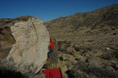 Rock Climbing Photo: John Kear catching the third shelf. Photo shot whi...