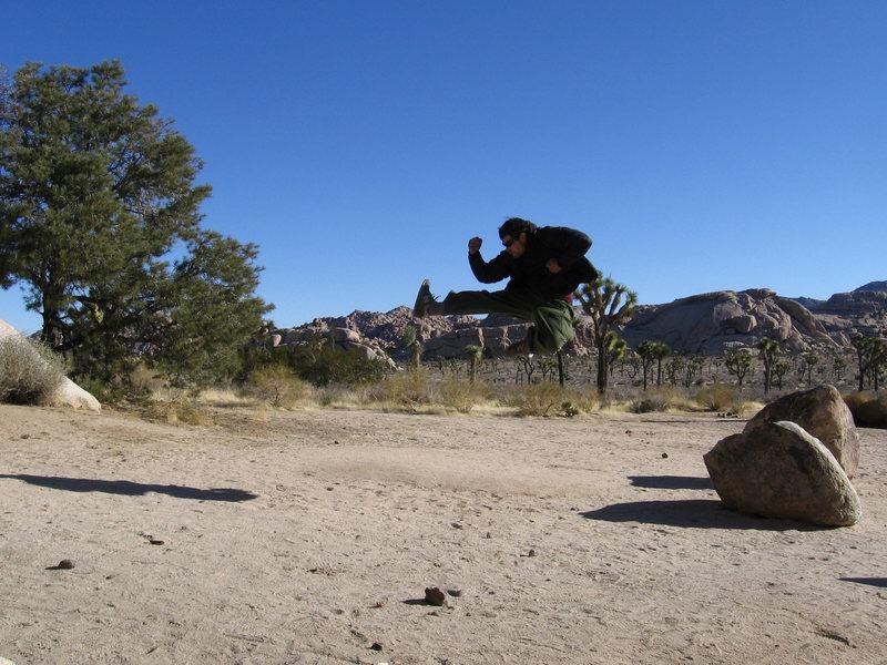 Rock Climbing Photo: ninja training