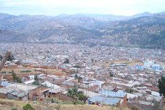Rock Climbing Photo: View of Huaraz on the way back from ultimate frisb...
