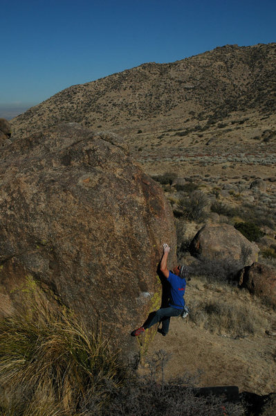 Rock Climbing Photo: John Kear catching the edge on the SE Arete of Bou...