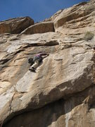 Rock Climbing Photo: Bob Almond on the first pitch