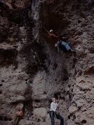Rock Climbing Photo: Datil, NM in the Birth Canal (Poop Shoot)