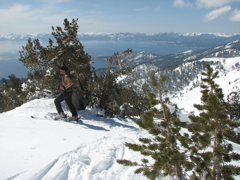 Rock Climbing Photo: Touring above Incline Village North Lake Tahoe.