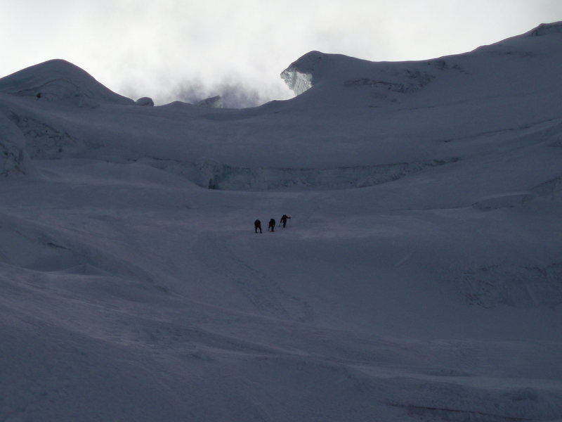 Approaching the headwall