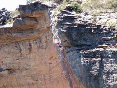 Rock Climbing Photo: Nearing the top of the hyper-classic egobooster, H...