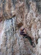 Rock Climbing Photo: Kapoopsie on the Gecko Wall.
