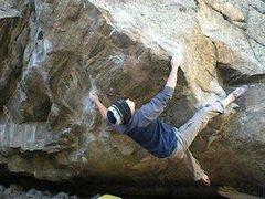 Rock Climbing Photo: Joe slappin' some squiggles.