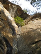 Rock Climbing Photo: Me standing in an alcove atop dicey at best hand/o...