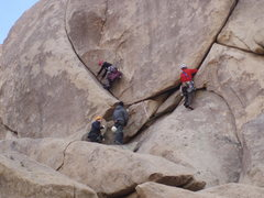 Rock Climbing Photo: Fiendish Fists to the right, Friendly Hands to the...