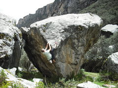 Rock Climbing Photo: High Heel Hook on The Sting V8-