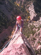Rock Climbing Photo: Topping out the the Yellow Spur in Eldo
