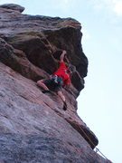 Rock Climbing Photo: Ryan ascending one evening in the Ironclads