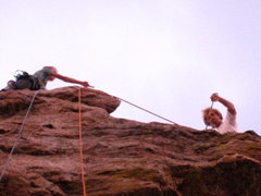 Rock Climbing Photo: Two monkeys rock climbing