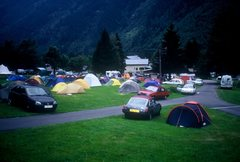 Rock Climbing Photo: Argentiere camp ground.  France 2000.