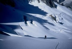 Rock Climbing Photo: Descending from Aiguille Talefre.  Chamonix France...