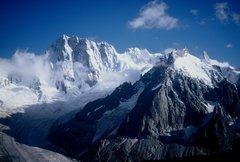 Rock Climbing Photo: The Grandes Jorasses.  Chamonix 2000.
