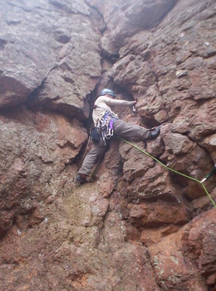 First lead of 5.5 Unknown Route.  EF 2nd, 60m rope, 4 x pro, no issues