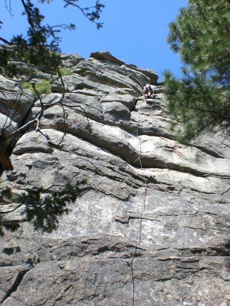 Rock Climbing Photo: Stuart Ames finishing up Dreams of an Alpinist.