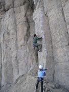 Rock Climbing Photo: FA shot!  Photo by Kirk Miller.
