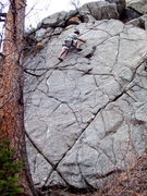 Rock Climbing Photo: BH on FA of X Marks The Start 5.10b/c, so start th...