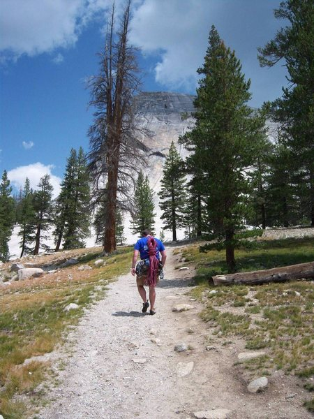 Rock Climbing Photo: Walking to Lembert Dome from the parking lot, whic...