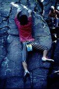 Rock Climbing Photo: BH bouldering on the Lou Reed Boulder, Balanced Ro...