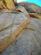 Rock Climbing Photo: The Sword-That-Was-Broken, 5.3 & Ring of Power, 5....
