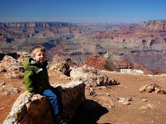 Rock Climbing Photo: The Boy at the Grand Canyon March 09.