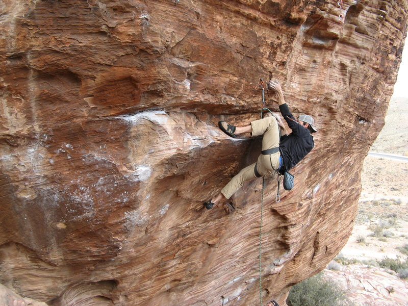 Rock Climbing Photo: Opening moves to a great route.