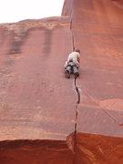 Rock Climbing Photo: Pente, Reservoir Wall. Indian Creek.