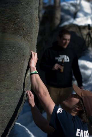 Rock Climbing Photo: Zach on the sit start. Photo by Seth Hamel