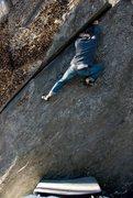 Rock Climbing Photo: Tim flashing Diagonal...photo by Seth Hamel