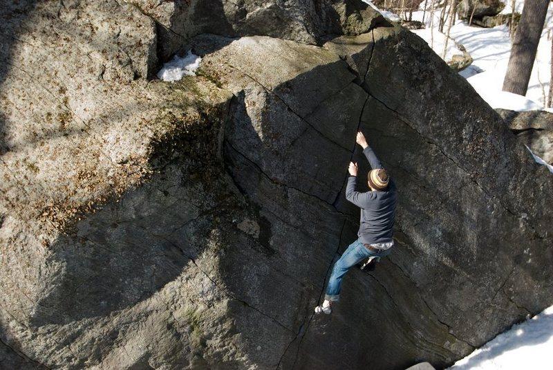 Rock Climbing Photo: Zig-Zag Crack