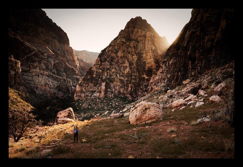 Rock Climbing Photo: Mescalito in sunbath