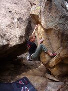 Rock Climbing Photo: Cochise Stronghold, unnamed Egg V3