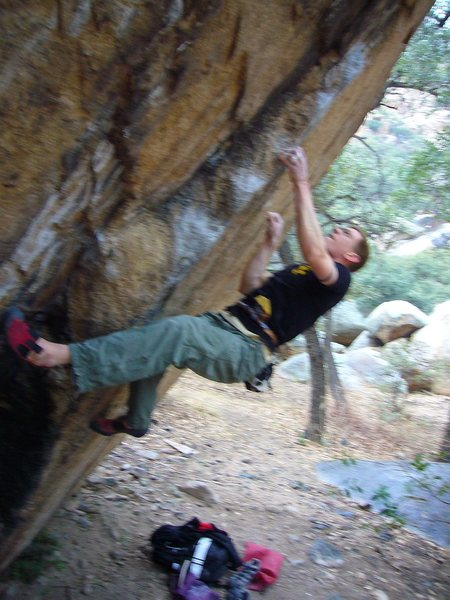 Rock Climbing Photo: The Classic Bob Murray Problem, Northface of Firep...