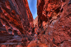 Rock Climbing Photo: Climbers in the Black Corridor, 5 frame HDR