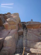 Rock Climbing Photo: Double Trouble follows the wide crack through two ...