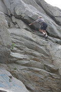 Rock Climbing Photo: Todd Gordon climbing at School House Rock. Not sur...