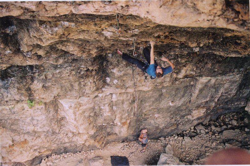 Rock Climbing Photo: Brandon cruising on Natural Selection, Joe Mos bel...