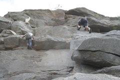 Rock Climbing Photo: Nathan and Todd at School House Rock.