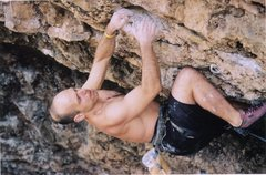 Rock Climbing Photo: Joe Mos. entering into the crux on Natural Selctio...
